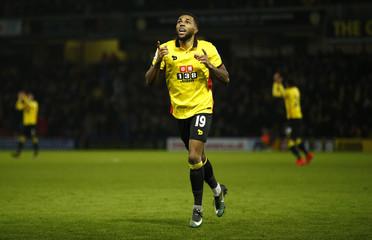 Watford's Jerome Sinclair celebrates scoring their second goal
