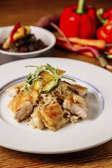 Chicken stew with sesame oil