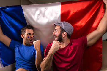 French Friends Celebrating with France Flag