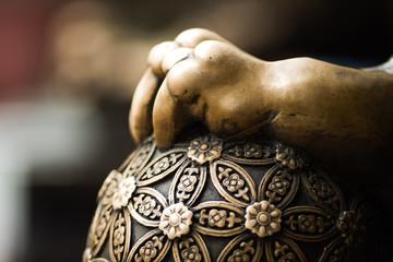 Historical Bronze dragon's hand