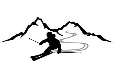 Skifahrer Berge