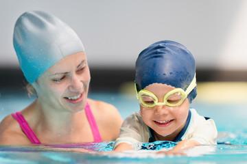 Swimming lesson for children