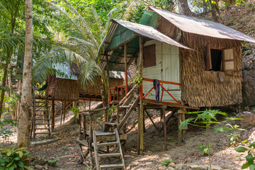 Bamboo hut on Koh Chang island in Thailand
