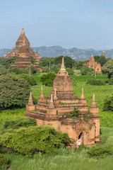 Old Bagan pagodas and temples in Myanmar