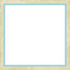Bege Blue Weathered Square Wood Photo Painting Picture Frame