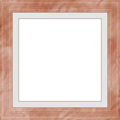Brown Red Weathered Square Wood Photo Painting Picture Frame