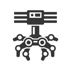 Robotic Claw Machine Icon. Vector