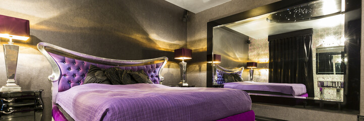 Bedroom in glamour style