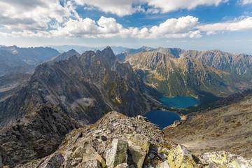 Obraz High Tatra Mountains, aerial view from Rysy peak - fototapety do salonu