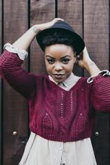 Portrait of a beautiful black woman