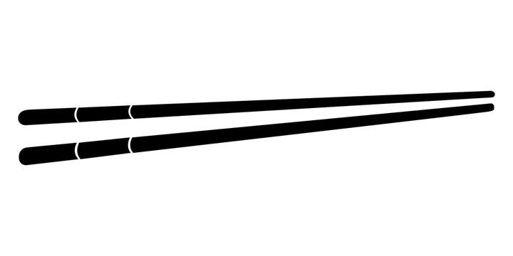 Pair of chopsticks silhouette