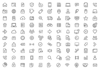 116 Line Art Icon Set 1
