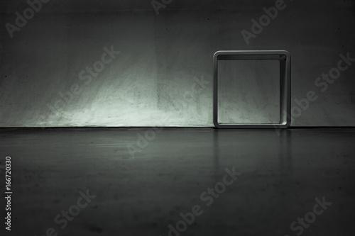 Dunkler Raum Mit Bilderrrahmen Stockfotos Und Lizenzfreie Bilder
