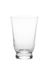 Empty glass isolated on a white