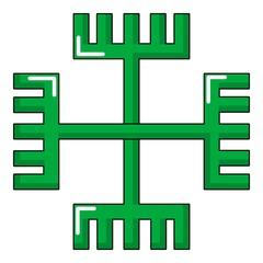 Pagan ancient symbol icon, cartoon style
