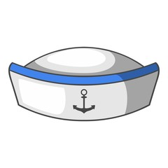 Sailor hat icon, cartoon style