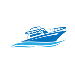 boat logo, sail boat, speed boad logo design