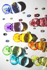 Colourful glasses and marbles...