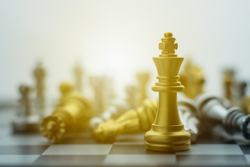 King chess on a chessboard