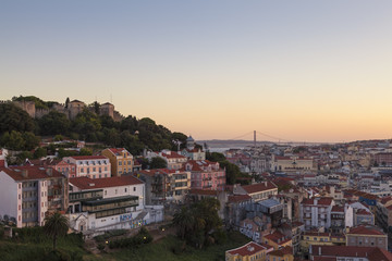 Lisbon Cityscape at Dusk, Portugal