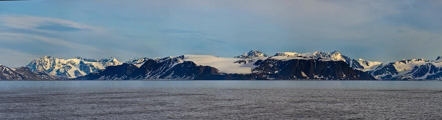 Arctic landscape in Svalbard