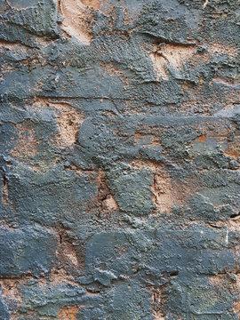 Close up of painted brick wall