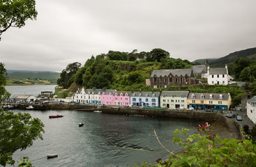 Portree on the Isle of Skye, Scotland, UK