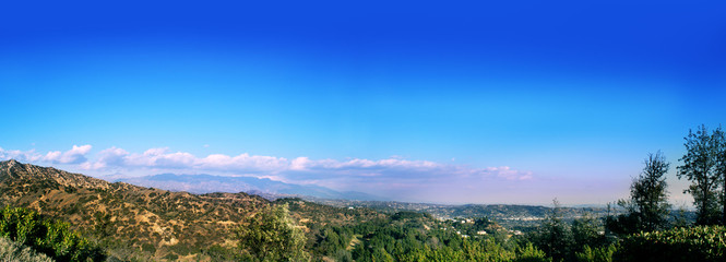 View from Griffith Observatory in Griffith Park, Los Angeles, California, USA