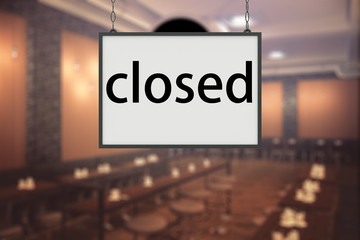 Closed restaurant