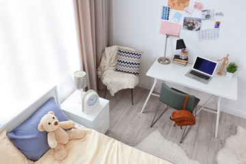 Comfortable kids room interior