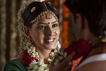 Portrait of a South Indian bride