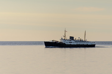 Expedition vessel in Arctic sea