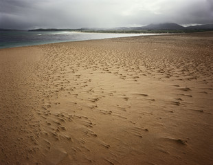 Landscape Of Sandy Shoreline, County Donegal Ireland
