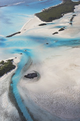 Aerial Of Island In The Bahamas
