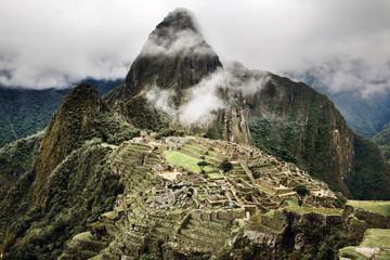 Machu Picchu, looking towards Huayna Picchu Mountain