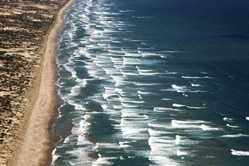 an aerial view of goolwa beach