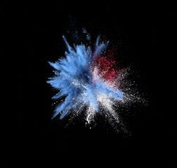Blue color explosion