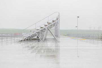 empty grandstand at racetrack