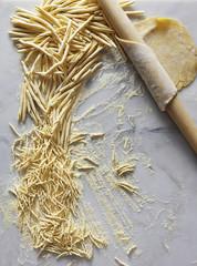 Italian pasta being made.