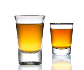 Cocktail Glass with brandy or whiskey
