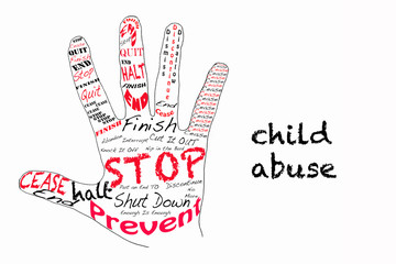 Stop child abuse illustration