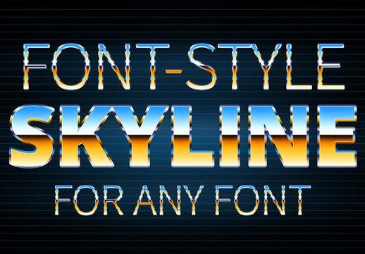 Multicolored Metallic Text Style 1