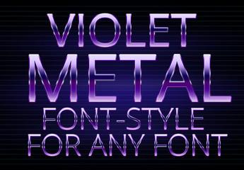 Purple Metallic Text Style 1