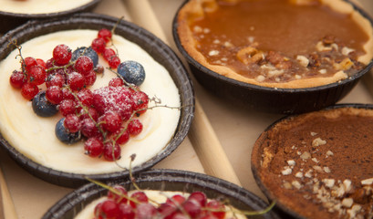 cakes with red currants