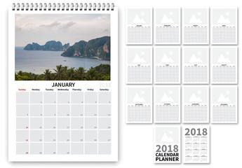 2018 Calendar Layout 2