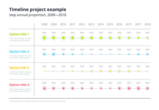 Colorful Four Section Infographic Chart Layout