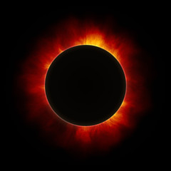 the beginning of a solar eclipse