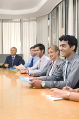 Business executives in a meeting