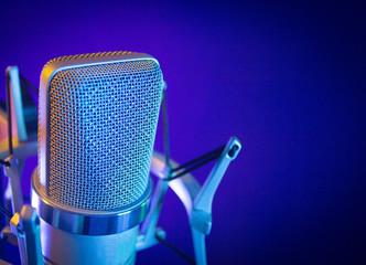 Classic recording studio microphone