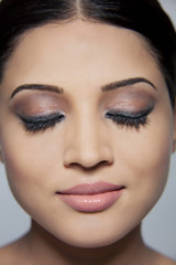 Portrait of a beautiful woman with make-up